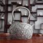福银 纯银茶餐 复古双龙戏珠提梁壶 银壶 845g±10